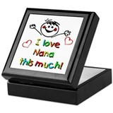 I Love Nana (Boy) Keepsake Box
