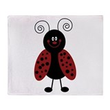 Love Bug Ladybug Throw Blanket