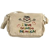 I Love Grandpa (boy) Messenger Bag