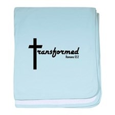 Transformed - Romans 12:2 baby blanket