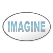 imagine... Oval Decal