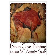 Bison Cave Painting Petroglyph