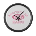 Property of Naomi Large Wall Clock
