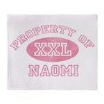 Property of Naomi Throw Blanket