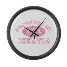 Property of Mikayla Large Wall Clock