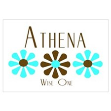 Athena - Blue/Brown Flowers