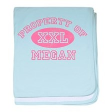 Property of Megan baby blanket