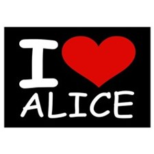 I LOVE ALICE (blk)