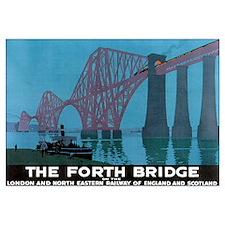 The Forth Bridge Vintage Trav