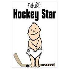 Future Hockey Star Framed Nursery Print