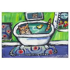 Tabby Cat bath