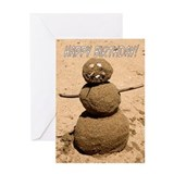 Birthday General - Funny Sand Person Greeting Card