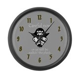 Pirate - Walking the Plank Large Wall Clock