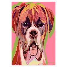 """Boxer Dog , Image Size 16x16"""""""