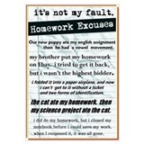 Homework Excuses