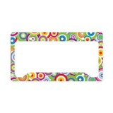 Bright Vector Circles License Plate Holder