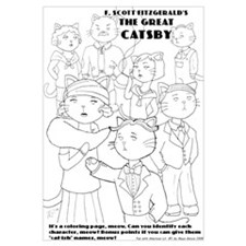 The Great Catsby coloring page