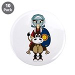 "Roman Gladiator on Horse 3.5"" Button (10 Pk)"