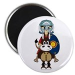 "Roman Gladiator on Horse 2.25"" Magnet (10 Pk)"