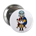 "Roman Gladiator on Horse 2.25"" Button (10 Pk)"