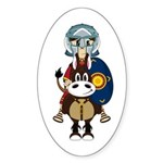 Roman Gladiator on Horse Sticker (50 Pk)