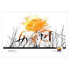 """Kitaro """"Spiritual Garden""""FEBRUARY Framed"""