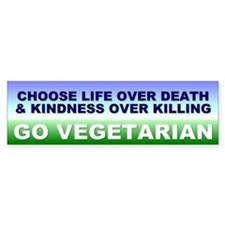 vegetarian... Bumper Bumper Stickers