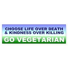 vegetarian... Bumper Car Sticker