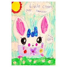 Little Cream Puff Hamster Print