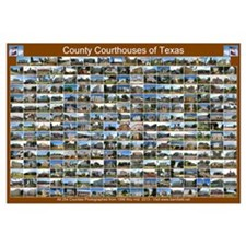 County Courthouses Of Tex Horizontal Brown