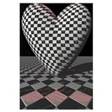 3D Checkered Heart