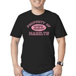 Property of Marilyn Men's Fitted T-Shirt (dark)
