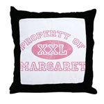 Property of Margaret Throw Pillow