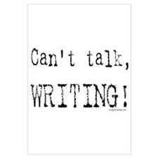 Can't talk, writing