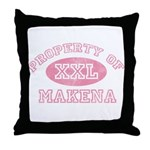 Property of Makena Throw Pillow