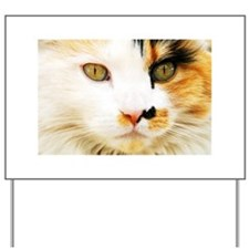 Calico Cat Yard Sign