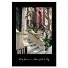 Row House in New York City Black