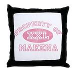 Property of Makena Throw Pillow