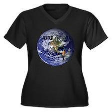 UU Chalice Women's Plus Size V-Neck Dark T-Shirt
