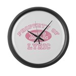 Property of Lyric Large Wall Clock