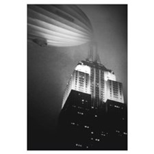 Hindenburg Docked to Empire St. Bldg.