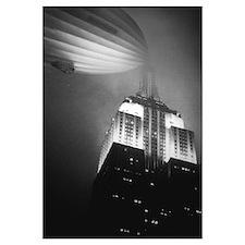 Hindenburg Docked to Empire St. Bldg.