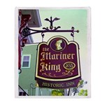 The Mariner King Inn sign Throw Blanket