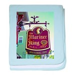 The Mariner King Inn sign baby blanket
