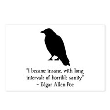 Edgar Allen Poe Quote Postcards (Package of 8)