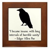 Edgar Allen Poe Quote Framed Tile