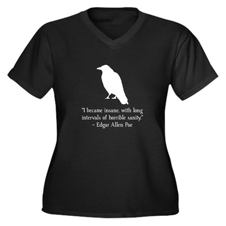 Edgar Allen Poe Quote Women's Plus Size V-Neck Dar