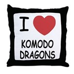 I heart komodo dragons Throw Pillow