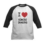 I heart komodo dragons Kids Baseball Jersey