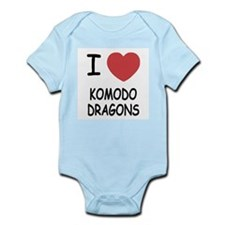 I heart komodo dragons Infant Bodysuit